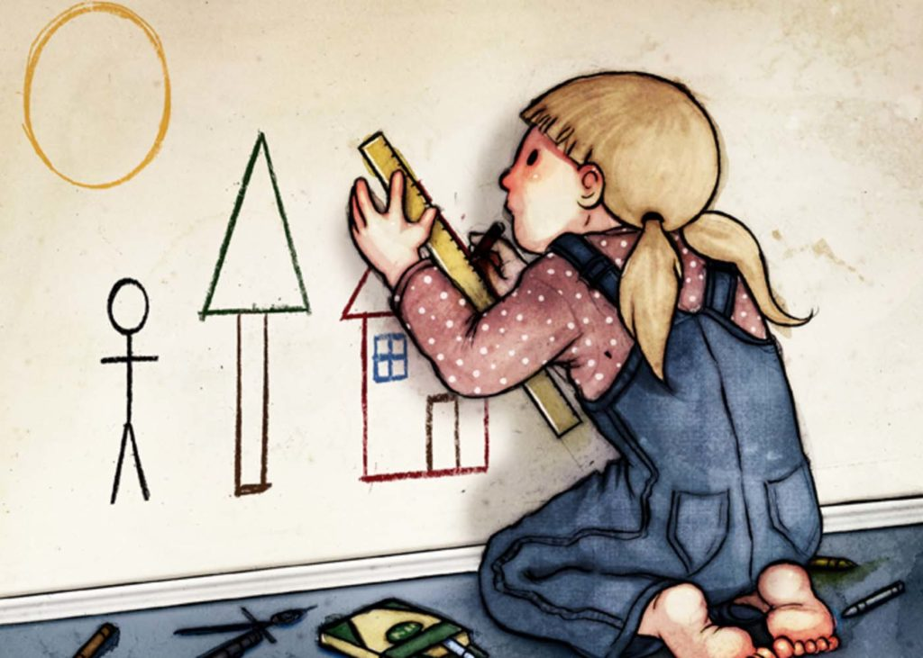 Маленькая девочка перфекционист