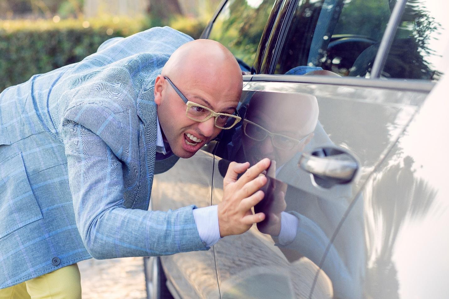 Педант высматривает чистоту машины