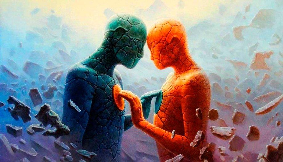 Два человека чувствуют друг друга