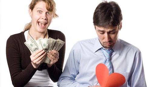 Девушка с деньгами и мужчина с разбитым сердцем