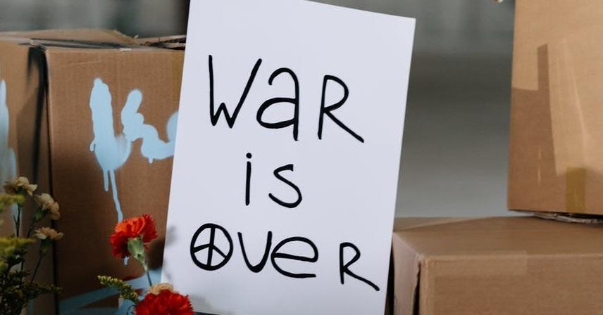 Карточка о том что война окончена